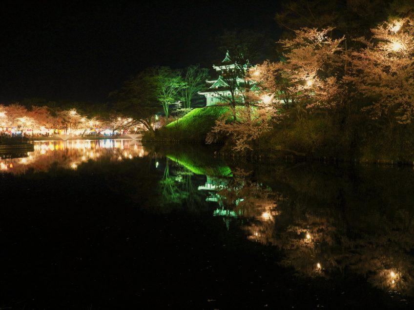 【日帰り】日本三大夜桜の高田城址公園 約4000本の桜のライトアップ